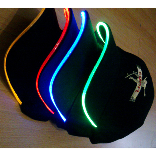 casquette lumineuse led style neon pic5