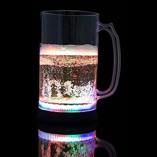 chope biere lumineuse multicolore