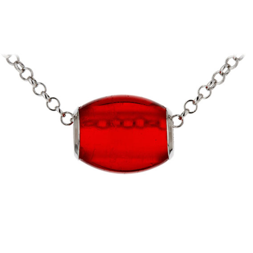 collier argent 925 opale rouge pic2