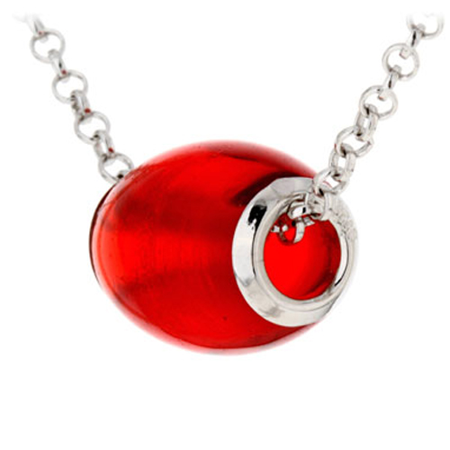 collier argent 925 opale rouge pic3