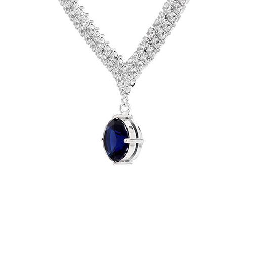 collier femme argent zirconium 8500015 pic3