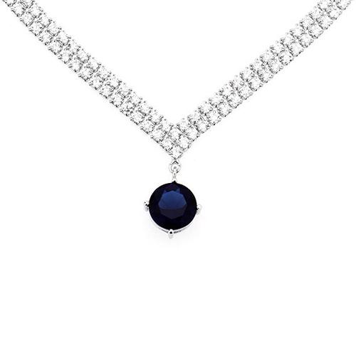 collier femme argent zirconium 8500015