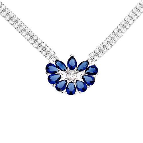 collier femme argent zirconium 8500016