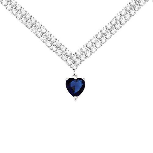 collier femme argent zirconium 8500017