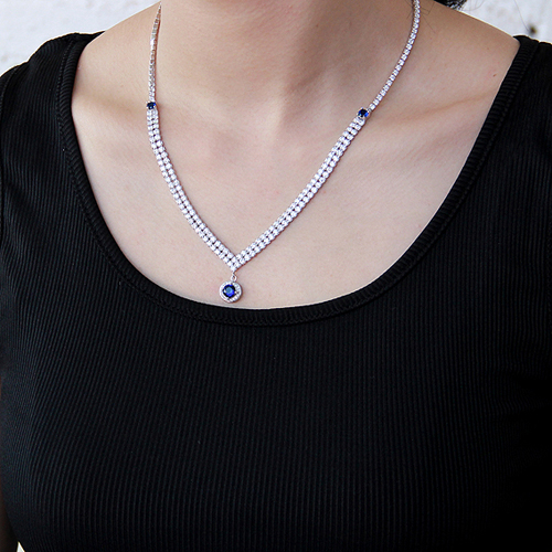 collier femme argent zirconium 8500018 pic6