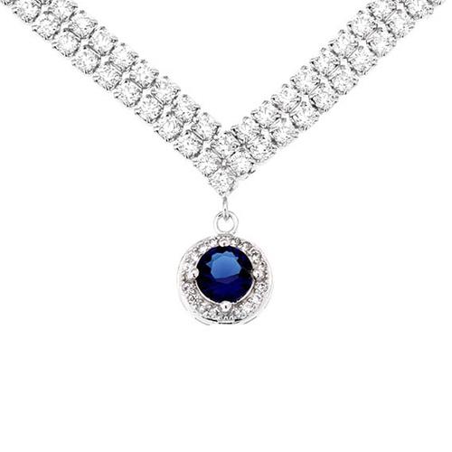 collier femme argent zirconium 8500018