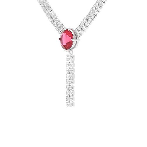 collier femme argent zirconium 8500019 pic3