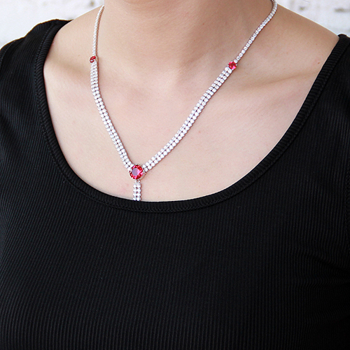 collier femme argent zirconium 8500019 pic6