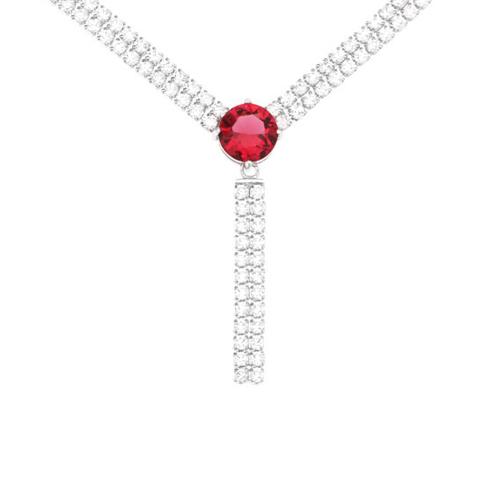 collier femme argent zirconium 8500019