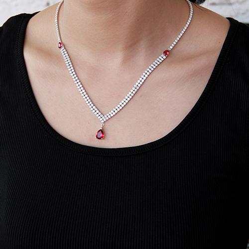 collier femme argent zirconium 8500020 pic6