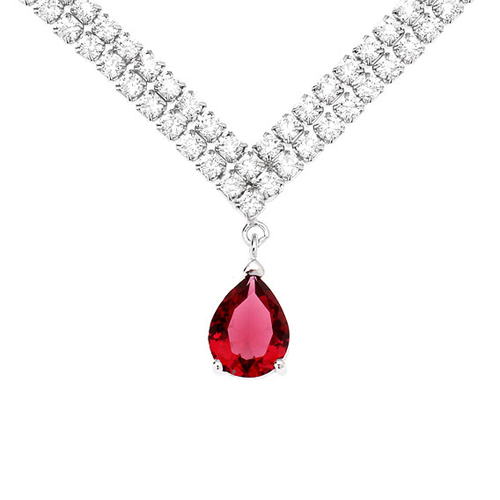 collier femme argent zirconium 8500020