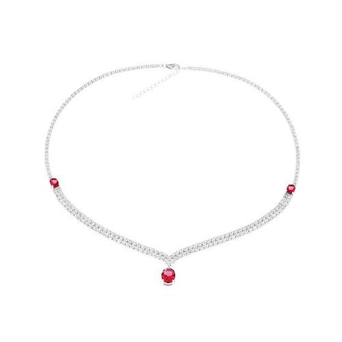 collier femme argent zirconium 8500021 pic2