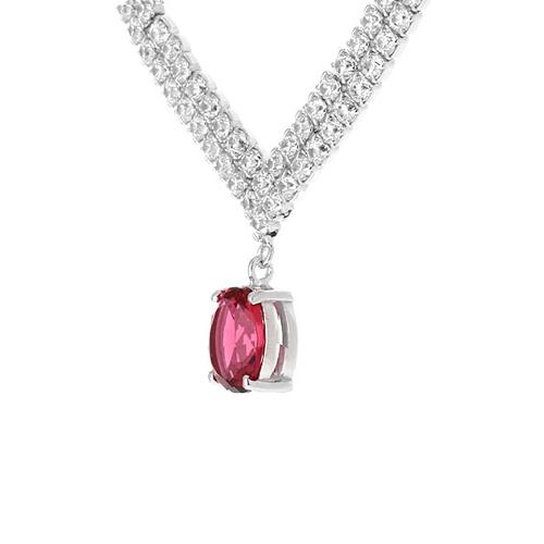 collier femme argent zirconium 8500021 pic3