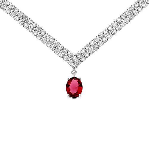 collier femme argent zirconium 8500021