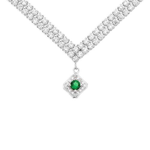 collier femme argent zirconium 8500023
