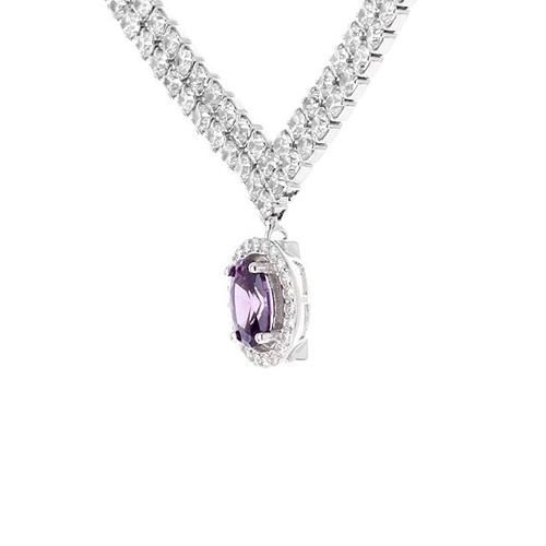 collier femme argent zirconium 8500024 pic3