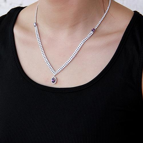 collier femme argent zirconium 8500024 pic6