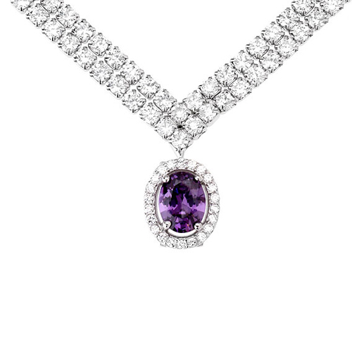 collier femme argent zirconium 8500024