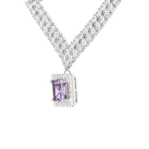 collier femme argent zirconium 8500025 pic3