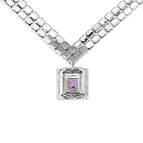 collier femme argent zirconium 8500025 pic4
