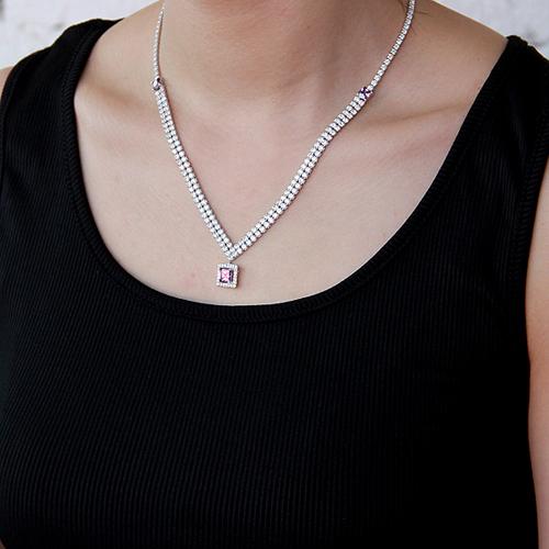 collier femme argent zirconium 8500025 pic6