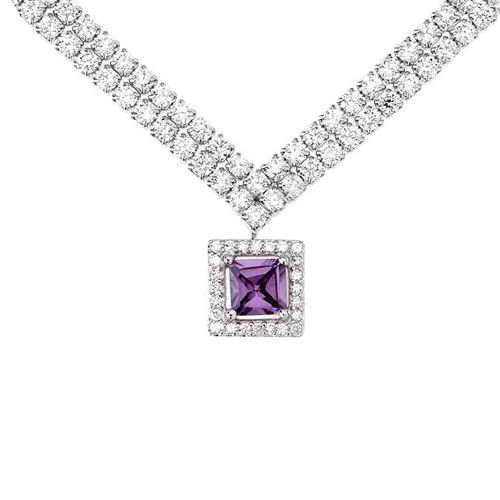collier femme argent zirconium 8500025