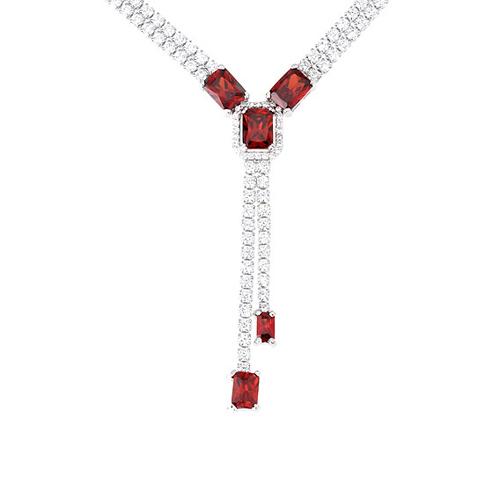 collier femme argent zirconium 8500026