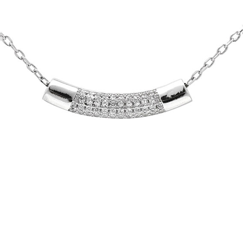 collier femme argent zirconium 8500027
