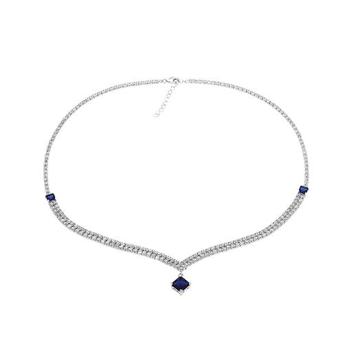 collier femme argent zirconium 8500028 pic2