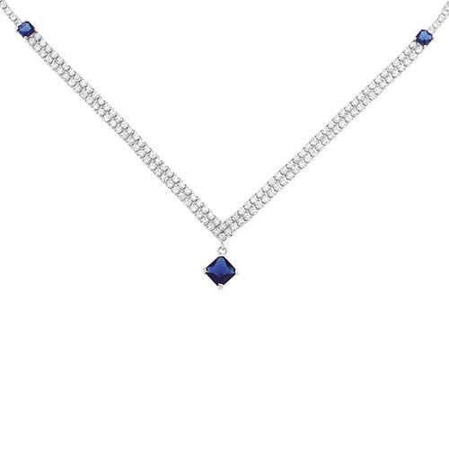 collier femme argent zirconium 8500028
