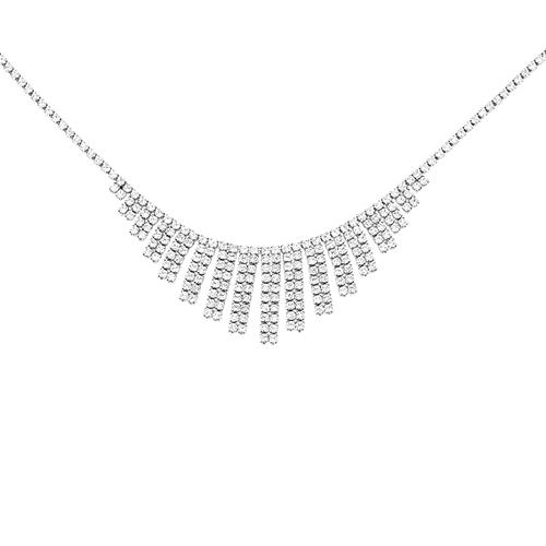 collier femme argent zirconium 8500029
