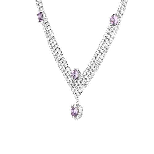 collier femme argent zirconium 8500030 pic3