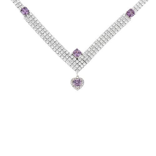 collier femme argent zirconium 8500030
