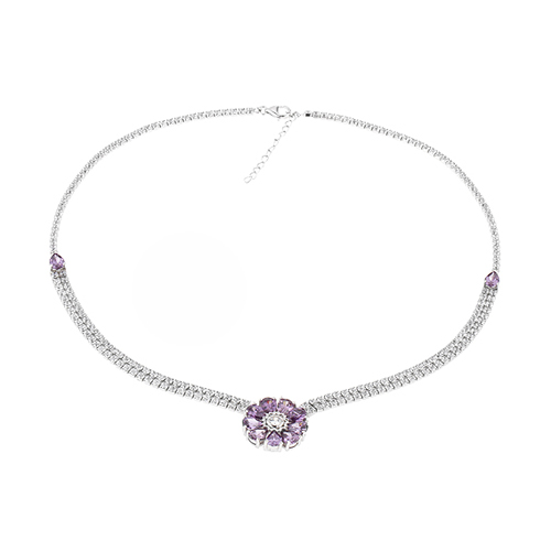 collier femme argent zirconium 8500031 pic2