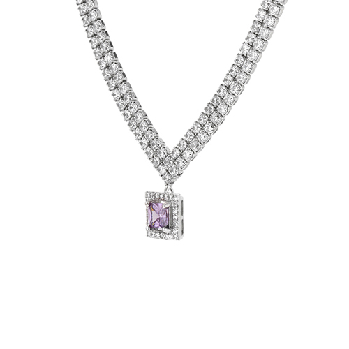 collier femme argent zirconium 8500032 pic3