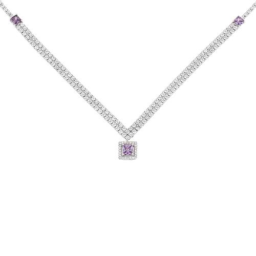 collier femme argent zirconium 8500032