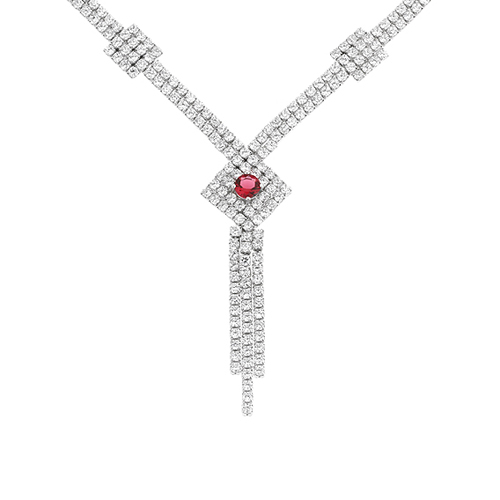 collier femme argent zirconium 8500033
