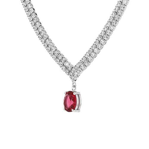 collier femme argent zirconium 8500034 pic3