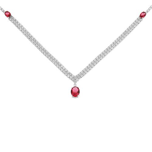 collier femme argent zirconium 8500034