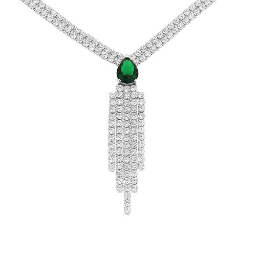 collier femme argent zirconium 8500035