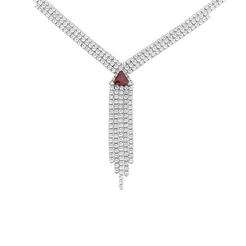 collier femme argent zirconium 8500036