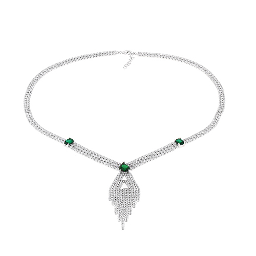 collier femme argent zirconium 8500038 pic2