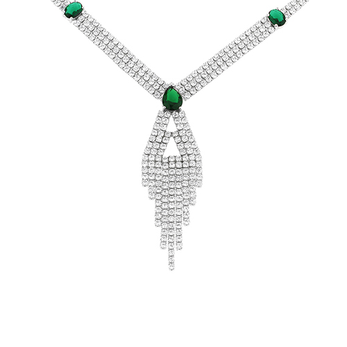 collier femme argent zirconium 8500038