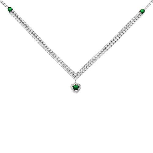 collier femme argent zirconium 8500039