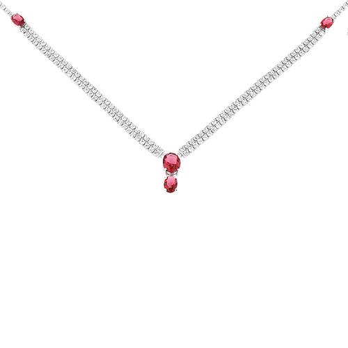 collier femme argent zirconium 8500040