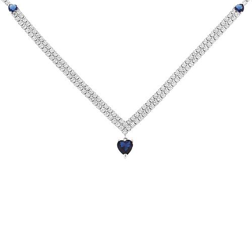collier femme argent zirconium 8500041