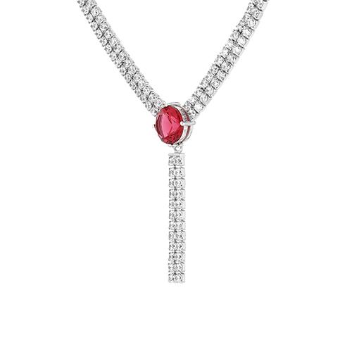collier femme argent zirconium 8500042 pic3