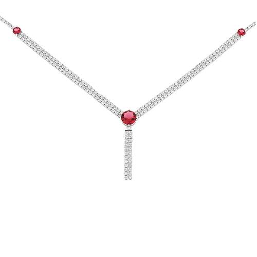 collier femme argent zirconium 8500042