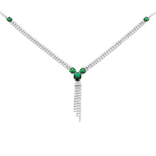 collier femme argent zirconium 8500043