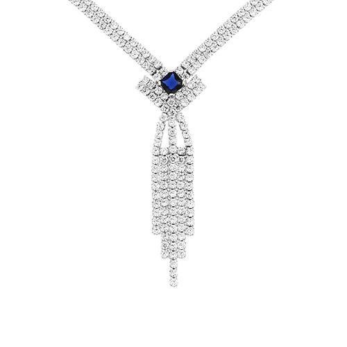 collier femme argent zirconium 8500047